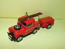 LAND ROVER FIRE ENGINE POMPIERS MATCHBOX YFE02 Sans Boite 1:43