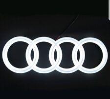 Emblema De Led Audi A3 A4 A5 A6 Blanco Luz Parrilla Delantera Anillos insignia con logotipo Resplandor