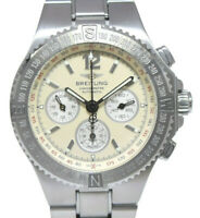 Breitling Hercules Stainless Steel Cream Dial Chronograph Mens Watch A39363