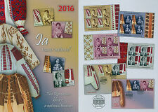 Rumänien 2016 Volkstrachten,Kulturerbe,Blouse,COSTUMES,IA Mi.7087-90,KB,FDC