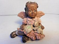 Vintage Sarah's Attic Angel Figurine Holiday Black Americana African 185/10000