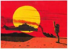 """WELCOME TO 29 PALMS"" original art drawn by Mahlon Fawcett - Alien first contact"