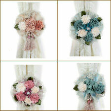 Flower Clip-on Curtain Tieback Buckle Holdback Hook Window Room Home Decor