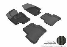 Black Rubber All Weather 1st 2nd Row Floor Mat Set For 05-10 Volkswagen Passat