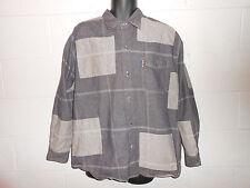 Vintage Enyce Patchwork Denim Jean Hip Hop Button Jacket Shirt Large