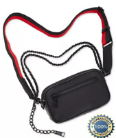 ⭐️ NWT ~ Steve Madden Livid Women's Convertible Belt Bag, Black & Red