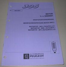 Werkstatthandbuch Peugeot 306 Kraftstoffversorgung Bosch MP 5.2 NFZ R6E RFV 1997