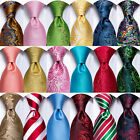 HT 299 Colors Men's Tie Blue Red Black Grey Gold Pink Paisley Solid Silk Necktie