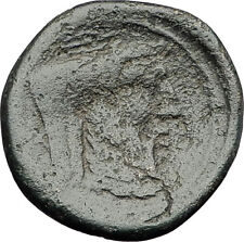 OINIADAI in Akarnania 219BC Ancient Greek Coin ZEUS RIVER GOD ARCHELOUS i62141