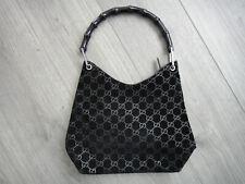 GUCCI Bamboo Bag schwarz Handtasche Damen Tasche Bag Leder Leather Henkeltasche