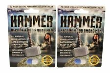 2 Pill The Hammer Men's Powerful Sexual Health Performance Enhancing Supplement