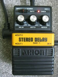 ARION STEREO DELAY SAD-1 Guitar Effects Pedal