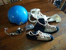 Vintage Rock Climbing shoes light France rock climbing helmet potholing pothole