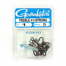 6 Per pack Gamakatsu Treble Hook 4X Strong Size 2 3339