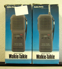 2 RADIO SHACK Walkie Talkies set TRC-91 in boxes 3-Channel CB receiver #21-1613B