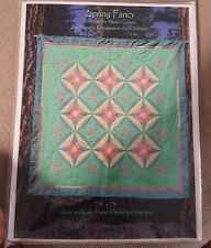 Spring Fancy Nicole Gunson Paper Pieced and Applique Quilt Peaceful Expressions