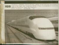 A new model of the 'super hikari' bullet train in T - Vintage photograph 1200689