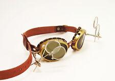 Steampunk Goggles Real Brass Tesla Steam Punk Glasses Sunglasses Cosplay LARP