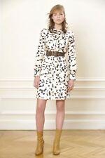 Chloe PF 2013 Net-a-Porter Dalmation Print Silk Secretary Shirt Dress 38 4 S