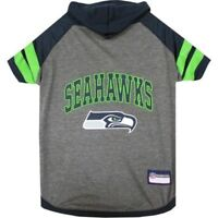 Seattle Seahawks NFL Pets First Sporty Dog Pet Hoodie Tee Shirt Sizes XS-L