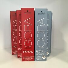Schwarzkopf IGORA ROYAL Permanent Hair Color Creme 2.1oz OR Tint Brush Pick!