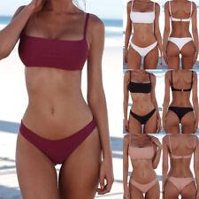 e1ec3a8e217 Women Summer Sexy Push Up Padded Bikini Set Bathing Swimsuit Beachwear 2019!