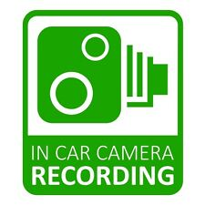 In Car CCTV Camera Recording Dash Cam Car Van Window Bumper Sticker Decal Green
