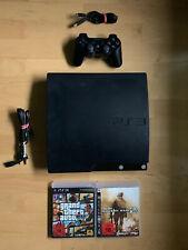 Sony Playstation 3 PS3 Slim Konsole - 110 GB - Getestet + 2x Spiele, Controller