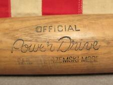 "Vintage Hillerich & Bradsby Wood Baseball Bat 32"" Carl Yastrzemski Power Drive"