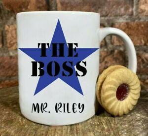 The Boss personalised Mug Best Manager BOSS office banter secret santa gift