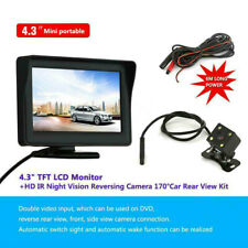"4.3""car Rear View Kit Camera Parking LCD Monitor Wireless IR Reversing AU"