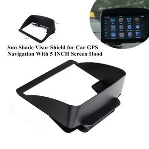 Black Sun Shade Visor Shield Kit for Car GPS Navigation With 5 INCH Screen Hood