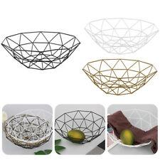 Kitchen Metal  Fruit Bowl Dish Vegetable Organizer Food Basket Iron Wire Mesh