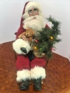 Santa on Sleigh Gramma Dodi OOAK Christmas Doll Dorothy Gillette Light Up Tree