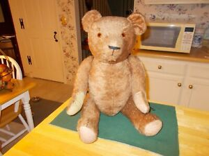 EARLY 1900S LARGE SIZED CINNAMON COLORED BEAR WITH HUMPED BACK FULLY JOINTED