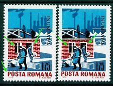 1970 Flood,Workers,Truck,Rebuilding destroyed houses,Romania,Mi.2886,Error/2,MNH