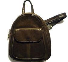 womens handbag backpack small dark brown real leather nice and soft