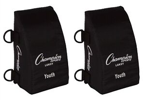Champion Sports Baseball / Softball YOUTH Catcher's Knee Savers / Support Pads