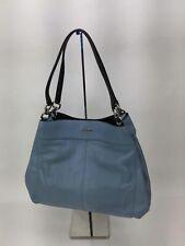 Coach Light Blue Pebbled Leather Shoulder Bag