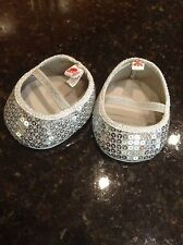 Build a Bear Silver Sequin Flats Dressy Mary Jane Shoes