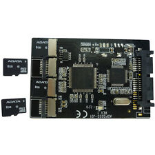 4 Micro SD to Micro SATA Adapter RAID TF Card to 1.8 Inch Micro SATA Converter