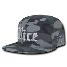 NCAA  Rice Owls University 6 Panel Camo Camouflage Snapback Baseball Caps Hats