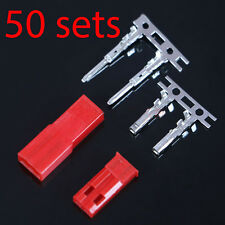 50 Sets RC JST BEC Set Male Female Connector Battery Switch 2 Pin Plug Tin Plate