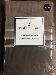 NEW Nautica STANDARD Pillow Sham Brown  - SILVER BAY