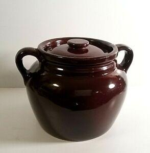 Vintage UHL Stoneware Bean Pot Crock Two Handles