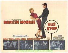 BUS STOP MOVIE POSTER 1956 MARILYN MONROE Original Half Sheet Size 22x28 Inch NM