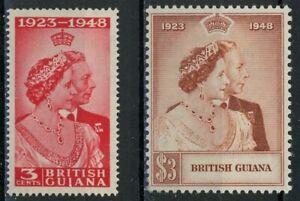 sa4744 British Guiana - Sc#244-45 Hinged with Remnants