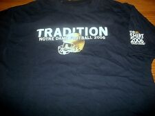 "Notre Dame Football 2006 ""The Shirt"" TRADITION Coaches Dark Blue T-Shirt Sm"