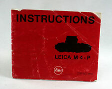 Leica Original M 4-P Instruction Book - 32  pages