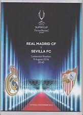 ORIG. prg UEFA Super Cup 2016 Finale real madrid-sevilla fc! muy raras